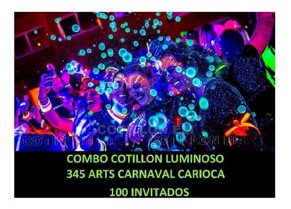 Combo Cotillón Luminoso De 345 Art Carnaval Carioca 100 Invi