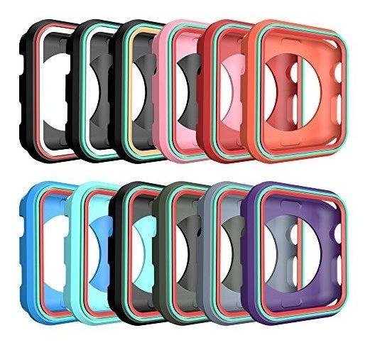 Awinner Colorido Estuche Para Apple Watch 42mm, A Prueba De