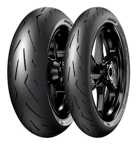 2 Pneu Moto Pirelli 200/55r17 78w 120/70r17 58w Diablo Rosso