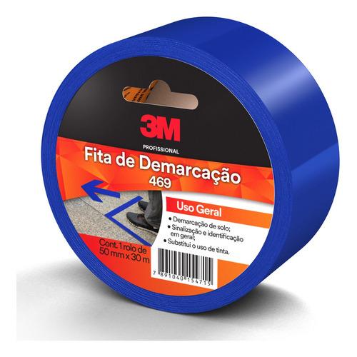 Fita De Demarcação Uso Geral Azul 469 50 Mm X 30 M 3m