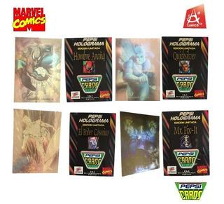 Paquete De 4 Tarjetas Coleccionables Pepsi Cards Holograma