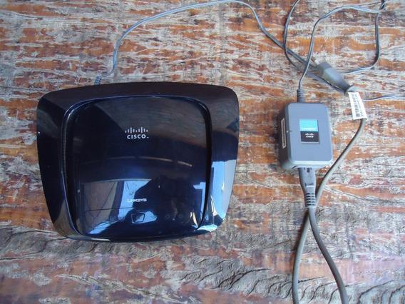 Roteador Wifi Linksys Cisco, Wrt160n V3,com Fonte Barato