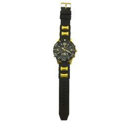 Relógio De Pulso Masculino Potenzia Dourado Com Preto B5672