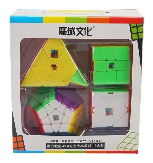 Kit Box Moyu Mofangjiaoshi Pyraminx,megaminx, Skweb E Sq1