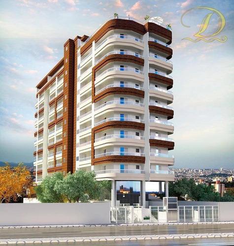Imagem 1 de 13 de Apartamento Com 1 Dormitório À Venda, 50 M² Por R$ 190.000 - Caiçara - Praia Grande/sp - Ap4235