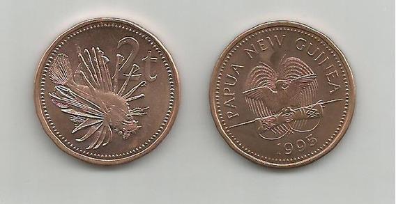 Moneda Papúa Nueva Guinea, Pez 2 T. 1995 S/c