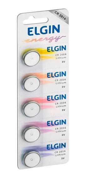 10 Baterias Pilhas Lithium Elgin Cr2016 02 Cart. C/ 5 Unid.