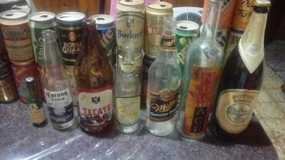 Latas Y Botellas De Cervezas Y Gaseosas Antiguas