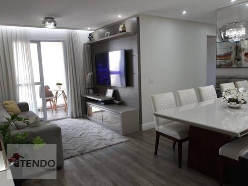 Apartamento Com 3 Dormitórios À Venda, 88 M² Por R$ 500.000 - Parque São Vicente - Mauá/sp - Ap2266
