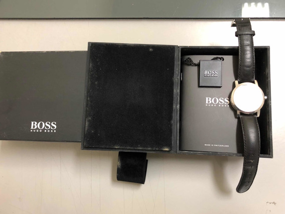 Relógio Hugo Boss Swiss Made Modelo Social