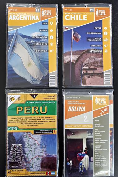 Kit Com 4 Mapas (argentina, Chile, Peru E Bolivia)