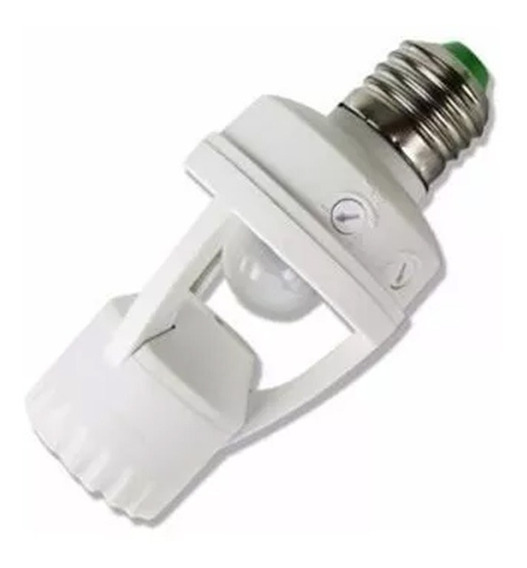 2 Sensor De Presença P/ Lâmpada Soquete E27 C/ Fotocélula