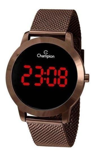 Relógio Digital Feminino Champion Chocolate