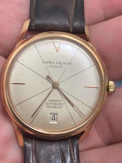 Relógio Suíço Automático Sigma Valmon Ouro