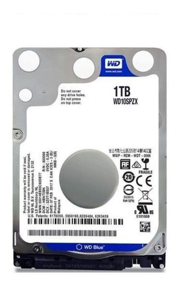 Hd Notebook 1tb Western Digital Blue - Wd10spzx-75z10t2