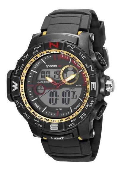 Relógio Masculino Speedo Anadigi 81186g0evnp2 - Preto