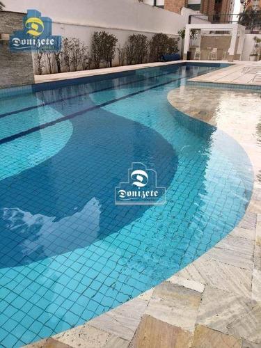 Apartamento Com 3 Dormitórios À Venda, 130 M² Por R$ 950.000,00 - Campestre - Santo André/sp - Ap14108