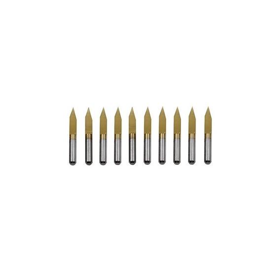 Proburs 10pcs 3.175mm 30 ° Recubierto De Titanio Pcb Bits De