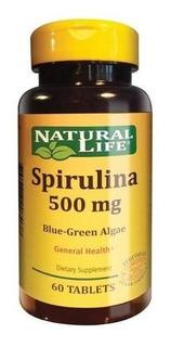 Natural Life Spirulina 500mg X 60 Comprimidos