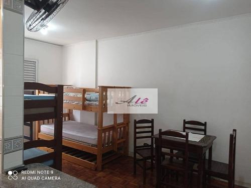 Imagem 1 de 17 de Kitnet Com 1 Dormitório , 26 M²  - Vila Guilhermina - Praia Grande/sp -