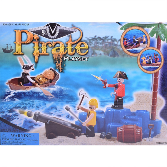 Piratas Muñecos Con Accesorios Tipo Playmobil