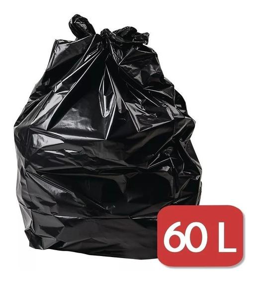 300 Sacos De Lixo 60l Cor Preta Resistente Afc964