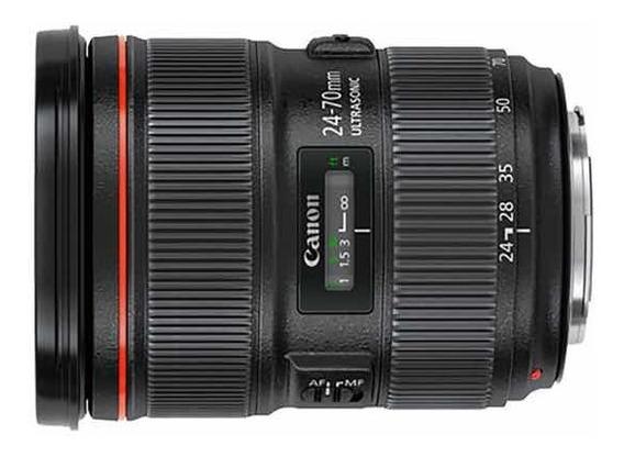 Lente Canon Ef 24-70mm 2.8l Usm Seminova
