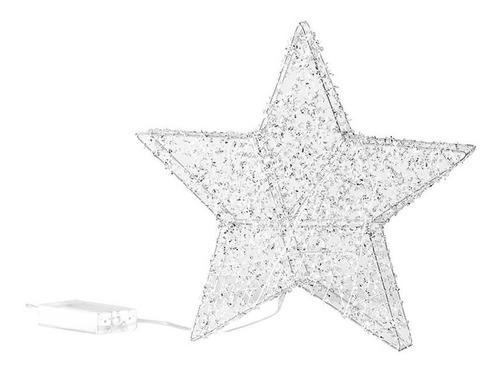Imagen 1 de 3 de Estrella Navideña 30 Cm Luz Led, Baterias Aa (no Incluidas)