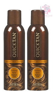 Kit 2 Spray Autobronceante Quick Tan Usa Cosmeticaval