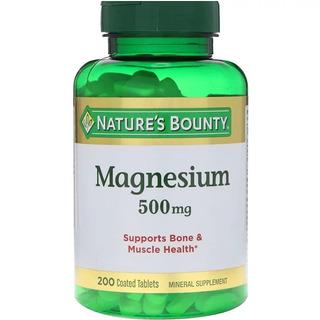 Magnésio 500 Mg 200 Tablets Nature
