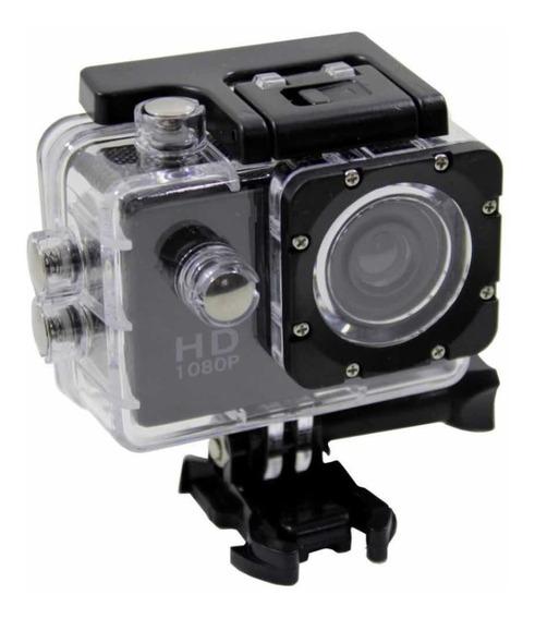 Câmera Filmadora Sports Hd 1080p Carro Moto Capacete Tipo Go