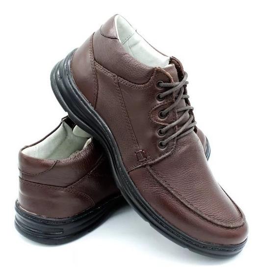 Sapato Social Confortplus Bmbrasil Couro Palmilha Antistres