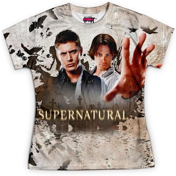 Camiseta Baby Look Serie Supernatural Sobrenatural Md07