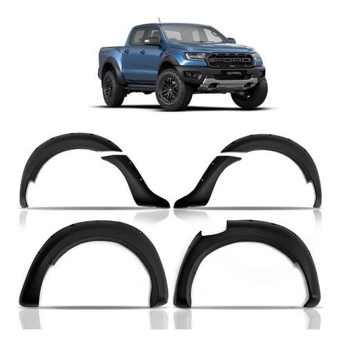 Alargador Paralamas Raptor Parafuso Cromado Ford Ranger 2021