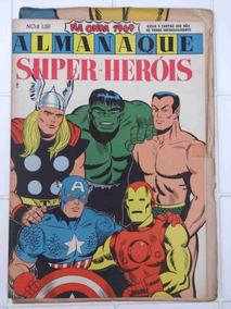 Almanaque Super-heróis Marvel Na Onda 1969 Ebal - Com Cartaz