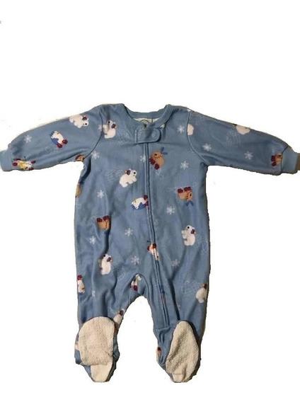 Pijama Circo Frizza Entero Talle 6 Meses Con Piecitos