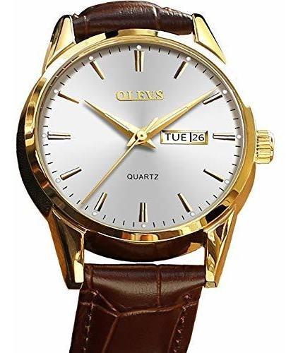 Reloj De Hombre (versión De Lujo), Olevs Reloj Marrón Para H