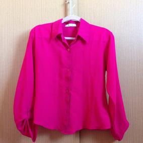 Camisa Social Pink Moça Bonita P 36