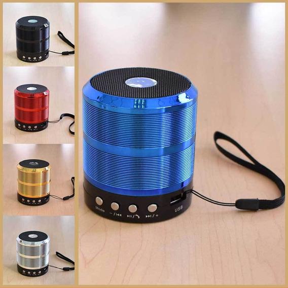 Caixa Som Ws-887 Azul Barata -potente