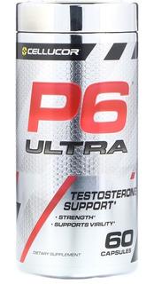 P6 Ultra Suporte Para Testosterona Cellucor 60 Cápsulas