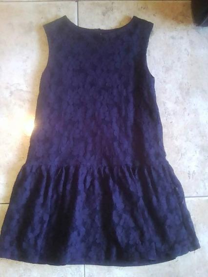 Vestido Para Niña, Tela De Blonda, Talla 5, Marca Epk, Usado