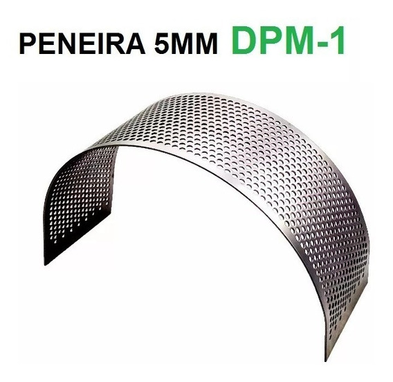 Peneira 5mm Triturador Dpm-1 Nogueira