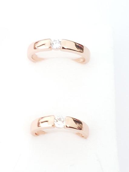 Anillo De Hombre Y Mujer 2 Pz Oro Rosa Estuche Led Para C/u