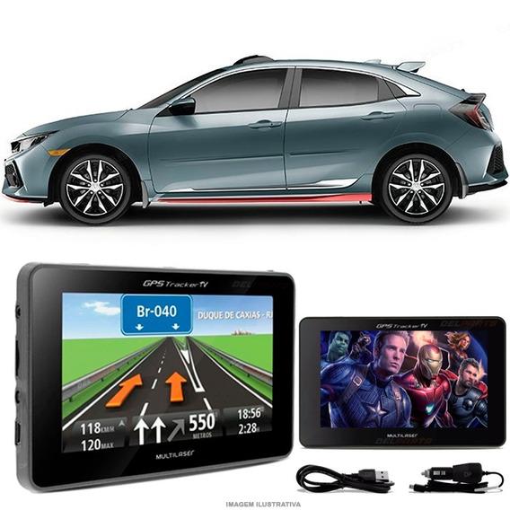 Navegador Gps Automotivo Civic Hatch Tela 4.3 Touch Voz