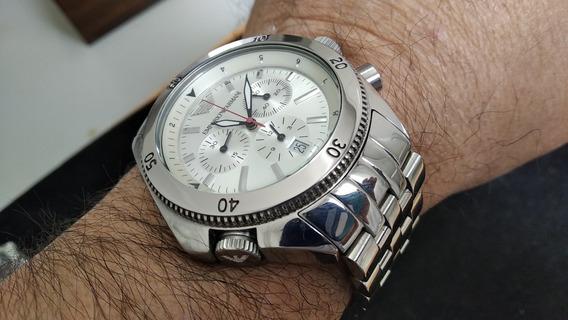 Relógio Empório Armani Mod. Ar0597 Suíço A Quartz Com 43mm