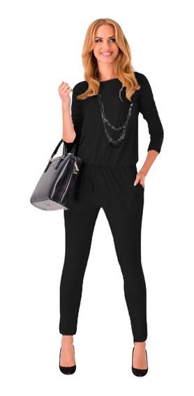 Palazzo Mujer Talla Grande Jumpsuit Likra Negro Encaje Sexy