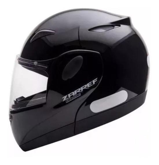 Capacete Articulado Zarref Classic Masculino Moto Preto
