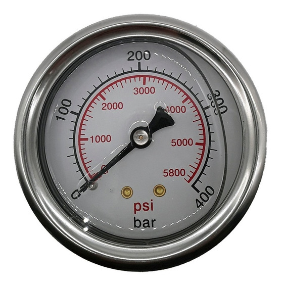Manometro 400 Bar Horizontal - R.1/4 Npt