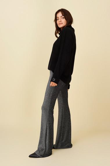 Pantalon Oxford Lurex Luna Plata Ugo Santini
