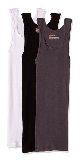 Rinbros Camiseta Para Caballero P3-blanco/gris/negro
